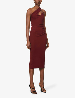 Thierry Mugler Asymmetric stretch-jersey maxi dress
