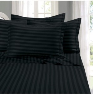 Elegant Comfort 6-Piece Luxury Soft Stripe Bed Sheet Set Full Bedding
