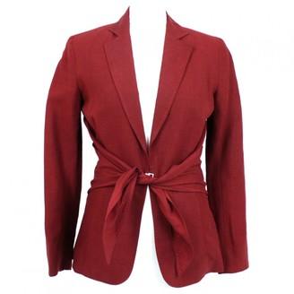 Hermes Burgundy Linen Jacket for Women