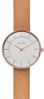 Skagen Gitte Analog Leather-Strap Watch