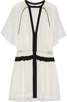 Isabel Marant Retra pleated cotton-crepe mini dress