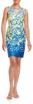Chetta B Ombre Floral Sheath Dress