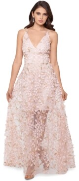 Xscape Evenings 3D Embroidered Floral Gown
