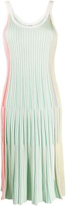 Kenzo Pleated Scoop-Neck Midi Dress