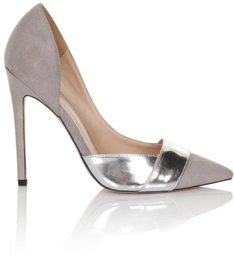 Little Mistress Footwear Paper Dolls Footwear Silver Metallic Court Shoes