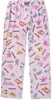 Vetements Men's Wide-Leg Printed Cotton-Poplin Trousers -Pink