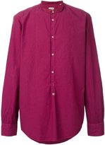 Massimo Alba band collar shirt