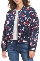 Juicy Couture Women's Floral Quilted Velour Bomber Jacket