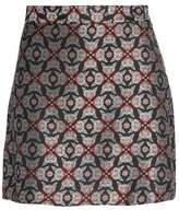 MAISON KITSUNÉ Metallic Jacquard Mini Skirt