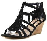 Kensie Sisha Open Toe Suede Wedge Sandal.
