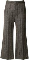 Isabel Marant Keroan cropped trousers - women - Linen/Flax/Viscose/Wool - 36