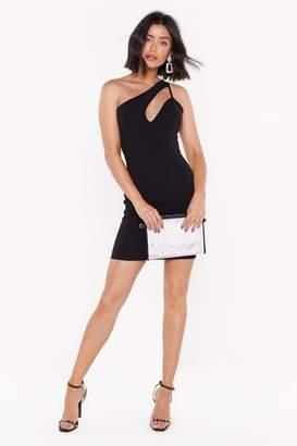 Nasty Gal Womens Gotta Cut You Out One Shoulder Mini Dress - Black - 6, Black