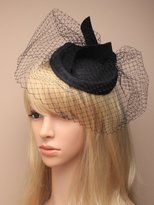 Inca Black Fascinator on Headband/ Clip-in for Weddings, Races and Occasions-5338