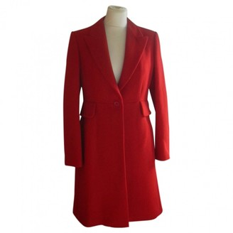 Alaia Red Wool Coat for Women