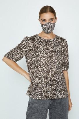 Coast Leopard Fashion Face Mask And Top Set
