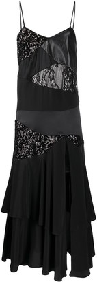 Almaz Patchwork Ruffled Cami Dress