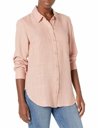 Tribal Women's Button Front L/S Shirt-Rose Clay XL