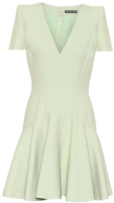 Alexander McQueen Wool and silk minidress