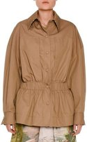Stella McCartney Snap-Front Anorak Jacket, Khaki