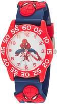 Marvel Boy's 'Spider-Man' Quartz Plastic Casual Watch, Color: (Model: WMA000171)