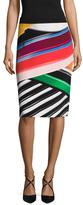 Mary Katrantzou Archi Silk Printed Pencil Skirt