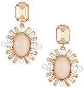 Oscar de la Renta Baguette-Trimmed Crystal Drop Earrings