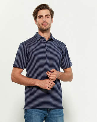 Under Armour Midnight Navy Playoff Striped Loose Fit Short Sleeve Polo