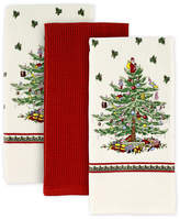 Spode Christmas Tree Set of 3 Kitchen Towels, Created for Macy's