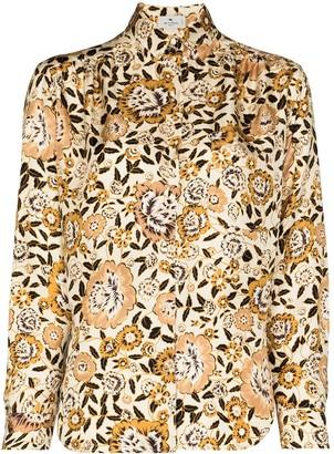 Etro Floral-Print Long-Sleeve Shirt