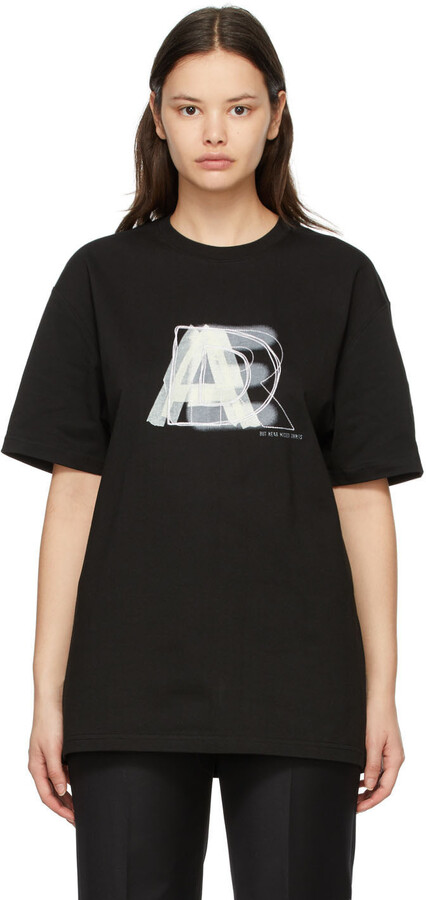 Thumbnail for your product : Ader Error SSENSE Exclusive Black AE Logo T-Shirt