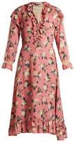 Vilshenko Palasha floral-print wool and silk-blend dress