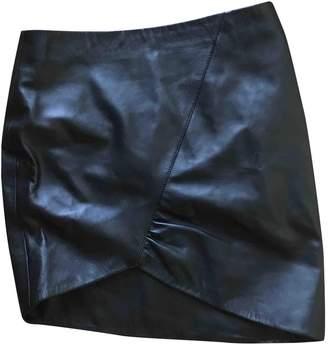 Anine Bing Black Leather Skirt for Women