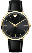 Movado 40mm Ultra Slim Watch, Black