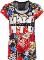 Philipp Plein NYC floral print T-shirt