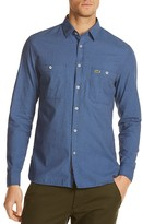 Lacoste Textured Slim Fit Button Down Shirt
