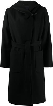 Fay Hooded Wrap Coat