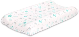 The Peanut Shell Baby Llama & Cactus Changing Pad Cover