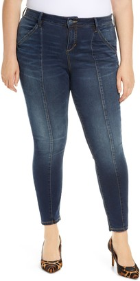 SLINK Jeans High Waist Center Seam Ankle Jeans