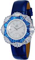Adee Kaye Women's Lantern 34.36mm Blue Leather Band Quartz Watch Ak6692-Lbu
