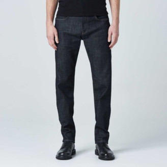 DSTLD Mens Straight Jean in Dark Wash Resin - Timber Stitch