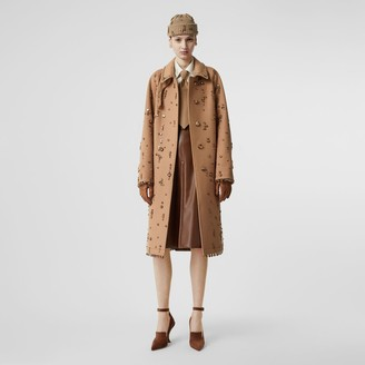 Burberry Embellished Wool Cashmere Car Coat