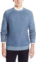 Calvin Klein Jeans Men's Cloud Wash Waffle Crew Sweater