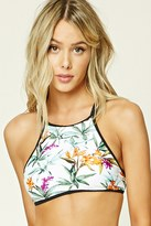 Forever 21 FOREVER 21+ Floral High-Neck Bikini Top