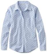 L.L. Bean L.L.Bean Wrinkle-Free Pinpoint Oxford Shirt, Long-Sleeve Floral