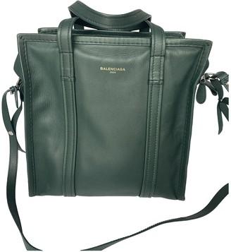 Balenciaga Bazar Bag Green Leather Handbags