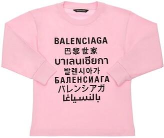 Balenciaga Printed Cotton Sweatshirt