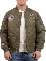 Tokyo Laundry Men's Cadence Bomber Jacket with Patches