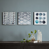 INK + IVY INK+IVY Monochrome Trio Printed Box Canvas Art