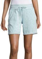 Calvin Klein Cotton-Blend Heathered Shorts