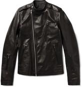 Rick Owens - Slim-fit Grained-leather Biker Jacket